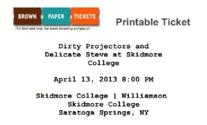 Dirty Projectors Ticket