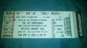 The Joy Formidable Ticket